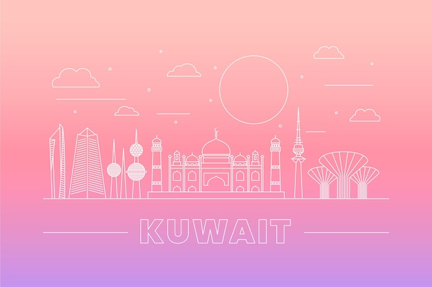Horizonte lineal de kuwait