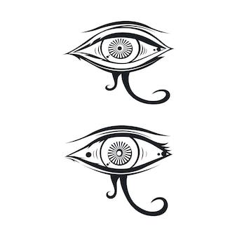 Horus one eye theme vector art illustration