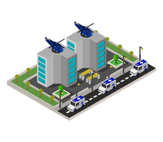 Hospital isometrico