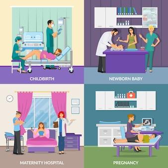 Hospital de maternidad 2x2 design concept