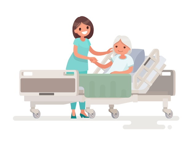 Hospitalización del paciente ilustración
