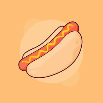 Hot dog comida callejera occidental