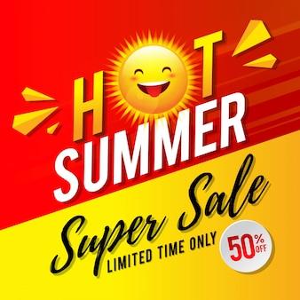 Hot summer super sale flyer design