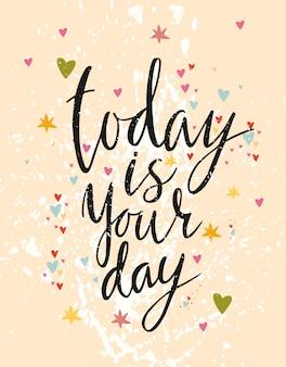 Hoy es tu día, letras divertidas