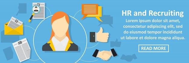 Hr y reclutamiento concepto horizontal banner