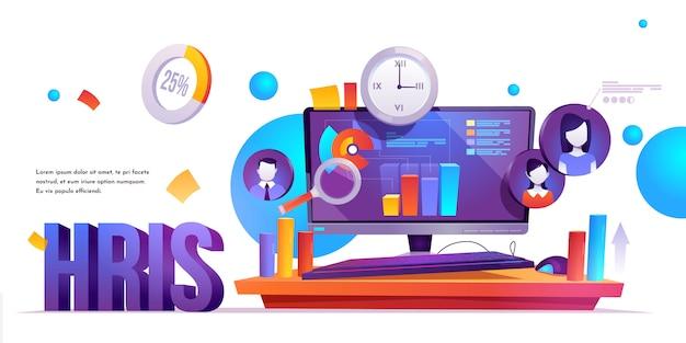 Hris, banner del sistema de información de recursos humanos