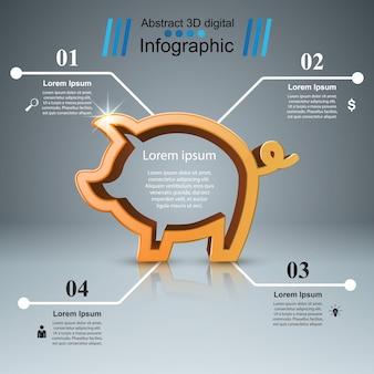 Hucha - infografía de negocios.