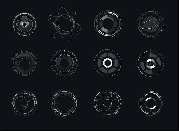 Hud futurista plantilla. luz digital de diseño de tecnología