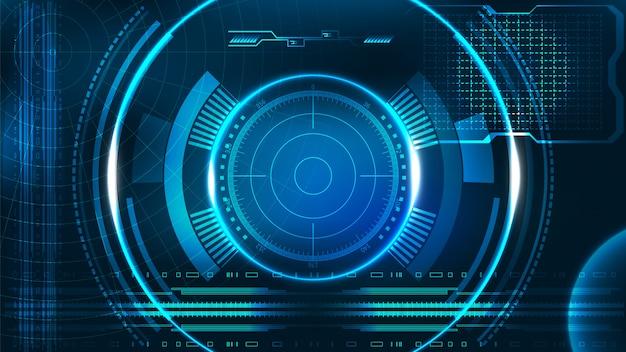 Hud ui aplicación de negocios interfaz de usuario futurista hud