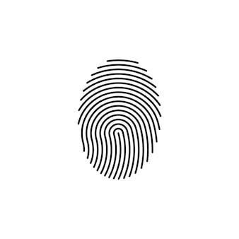 Huella digital huella digital cerradura plantilla de icono de logotipo de seguridad segura