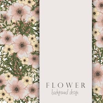 Huésped de flores con flores de color beige