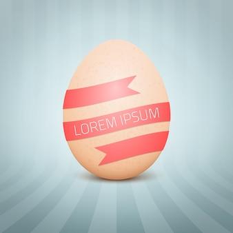 Huevo amarillo realista