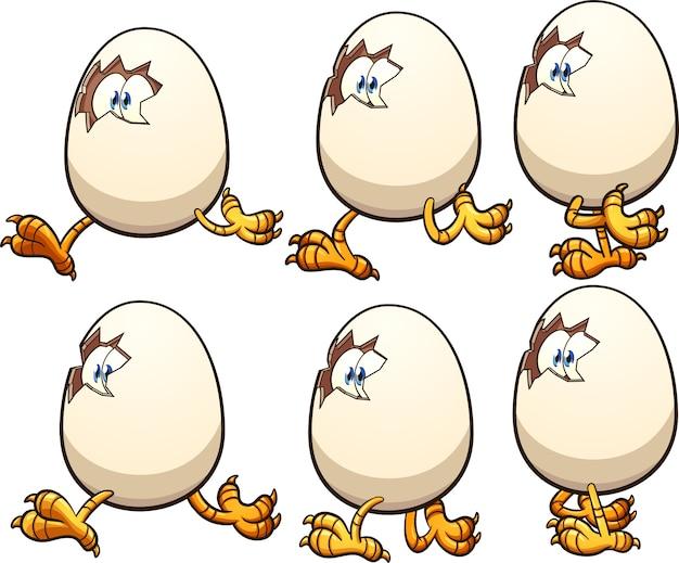 Huevo caminando
