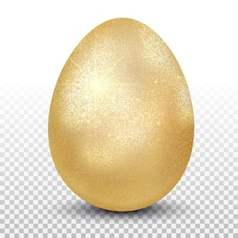 Huevo de gallina dorado. diseño