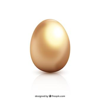 Huevo de pascua dorado mate