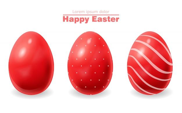 Huevos de pascua rojos