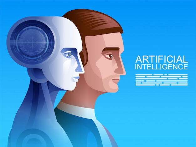 Humano vs robot.