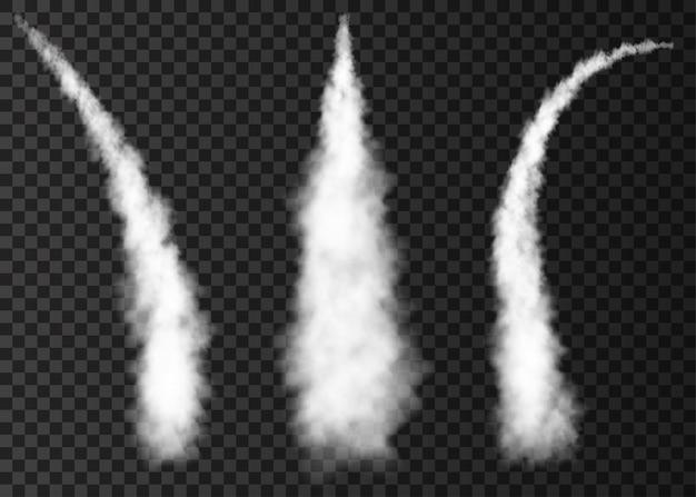 Humo del lanzamiento del cohete espacial