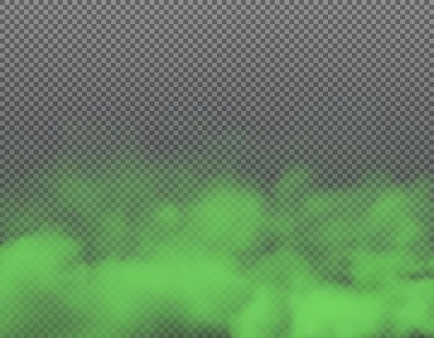 Humo verde o nubes de mal olor