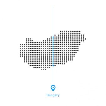 Hungría adorado vector de diseño de mapa
