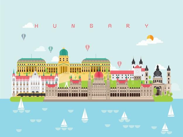 Hungría famosos monumentos infográficos