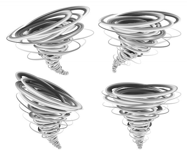 Huracán tornado maqueta conjunto