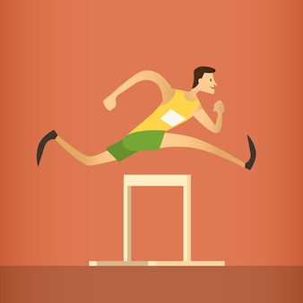 Hurdle race running athlete sport competition