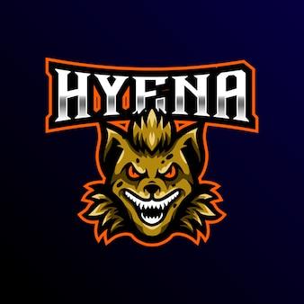 Hyena mscot logo esport gaming ilustración.