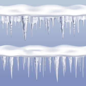 Icicles tileable borders set