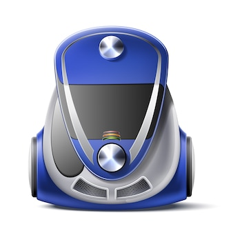 Icono 3d de cuerpo de aspiradora realista