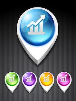 Icono 3d de gráfico
