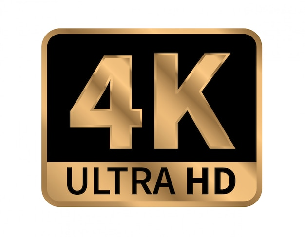 Icono 4k ultra hd.