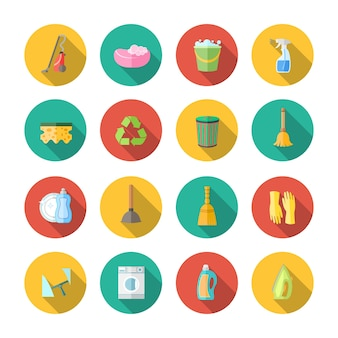 Icono acerca de la limpieza