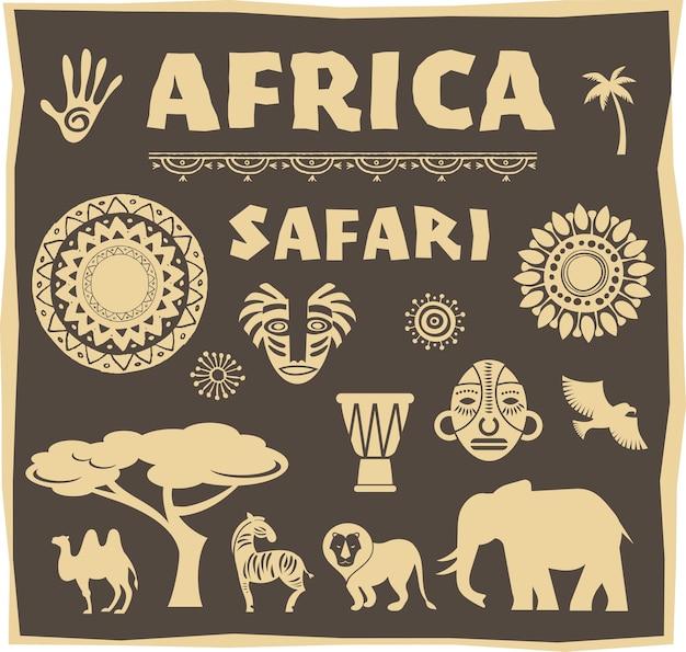 Icono de áfrica y safari