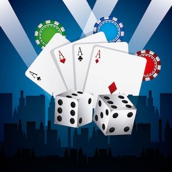 Icono aislado de elementos de juegos de casino