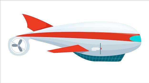 Icono aislado de dirigible de aerostato
