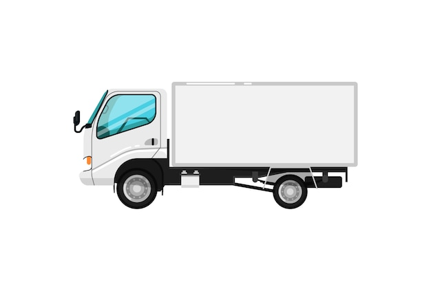 Icono aislado de entrega comercial coche