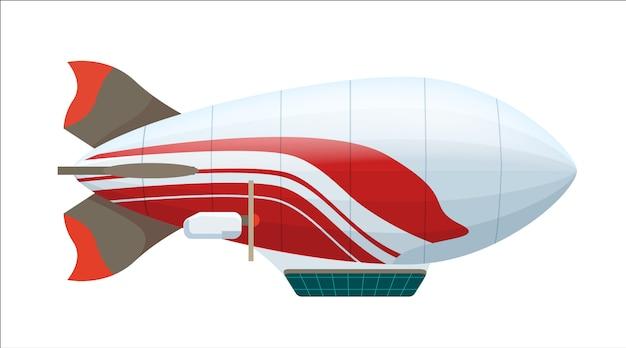 Icono aislado moderno zeppelin