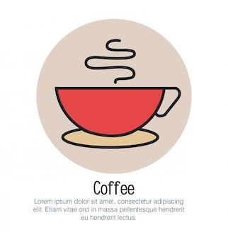 Icono aislado de la taza de café