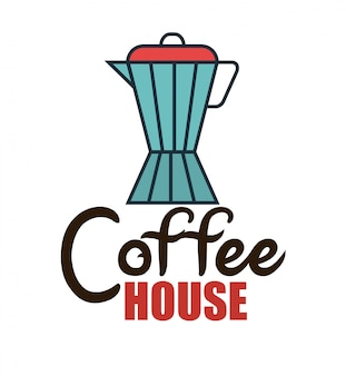 Icono aislado de la tienda de café