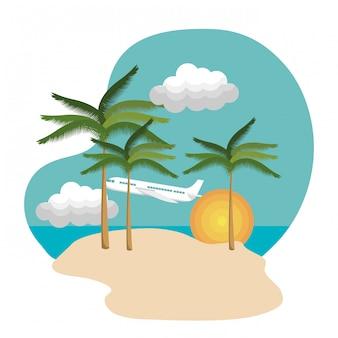 Icono aislado de vacaciones de verano tiempo