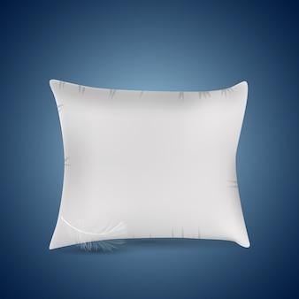 Icono de almohada blanca.