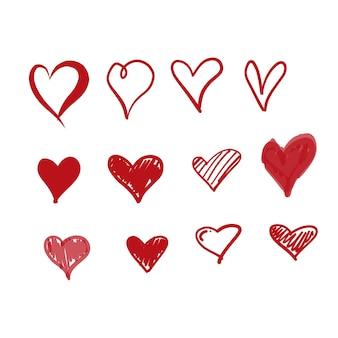 Icono de amor dibujados a mano