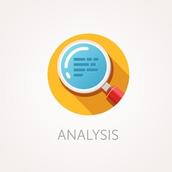 Icono de análisis