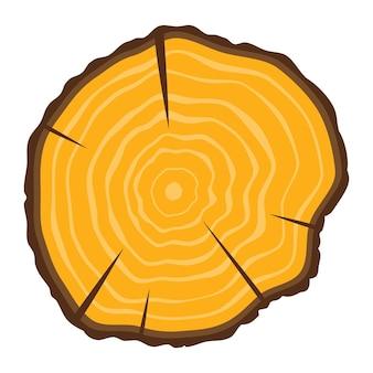 Icono de anillos de crecimiento de árbol