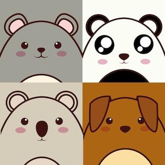 Icono de animal kawaii
