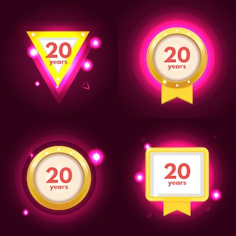Icono de aniversario 20