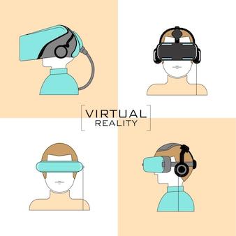 Icono de auriculares de realidad virtual