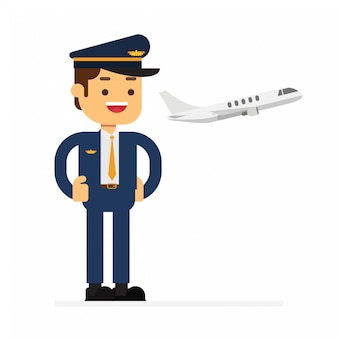 Icono de avatar de personaje de hombre. aeropuerto