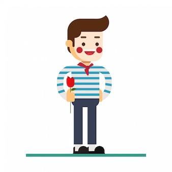 Icono de avatar de personaje de hombre